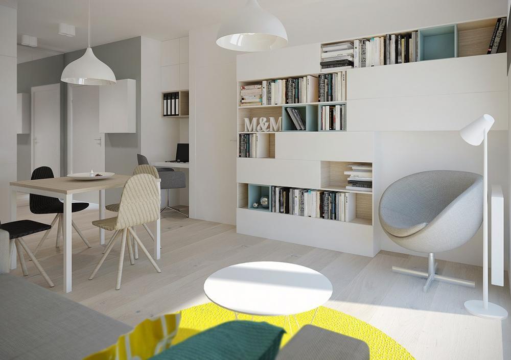 Mẫu căn hộ 41m2 thiết kế đơn giản